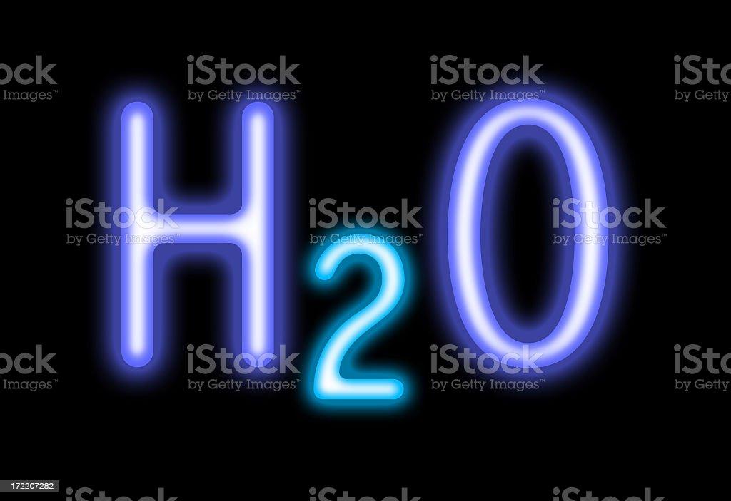 H2O neon royalty-free stock photo