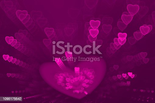 887762464istockphoto Neon Pink Purple Hearts Confetti Pattern Valentine's, Sweetest Day Love Abstract Firework Exploding Ombre Background Holiday Bright Fine Art Fractal 1095175542
