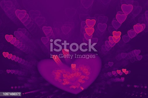 887762464istockphoto Neon Pink Ultra Violet Hearts Confetti Purple Pattern Valentine's, Sweetest Day Love Abstract Firework Exploding Ombre Background Holiday Bright Fine Art Fractal 1097466372