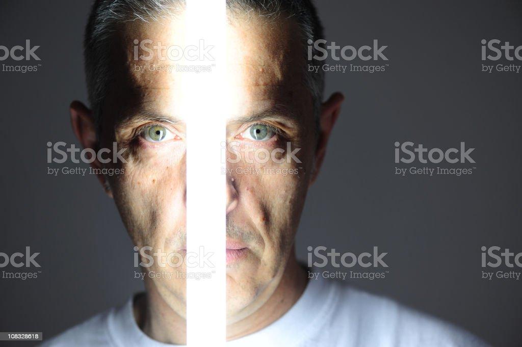 Neon portrait royalty-free stock photo