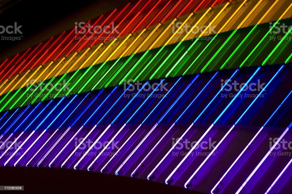 Neon Rainbow royalty-free stock photo