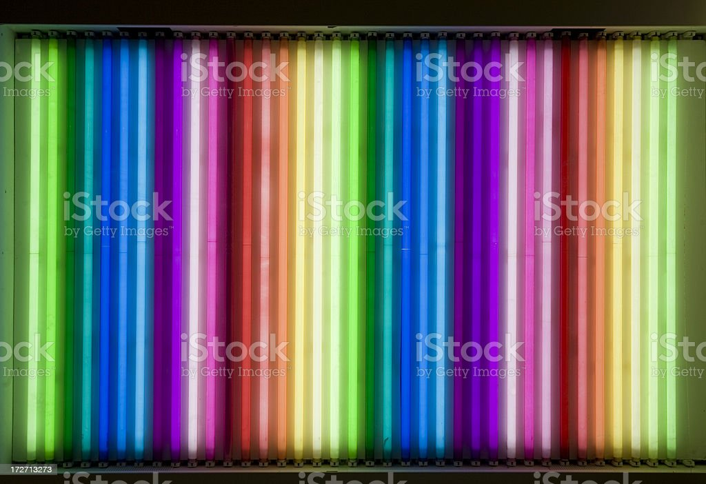 neon rainbow stock photo