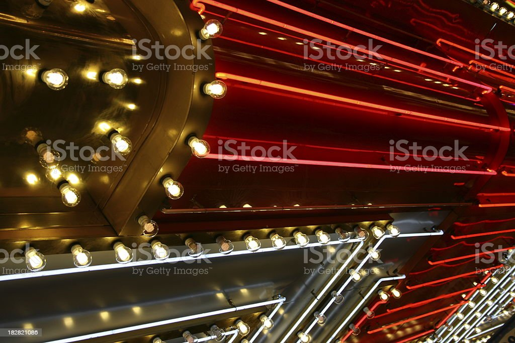 Neon Red Abstract stock photo