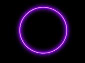 istock neon round frame 1310552002