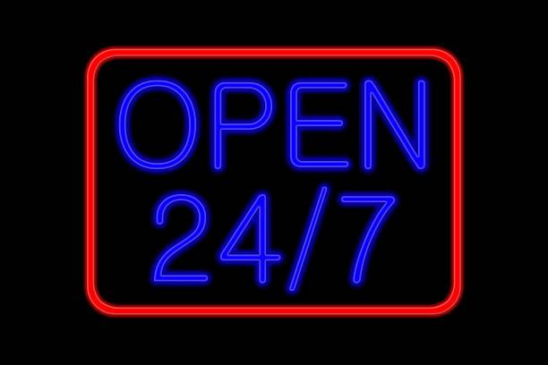 Neon Sign 24 Stunden – Foto