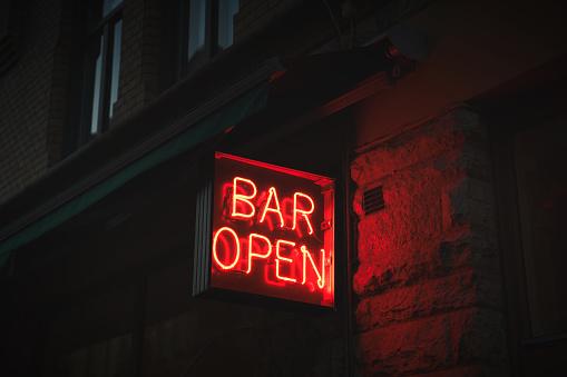 Neon Sign board, BAR OPEN