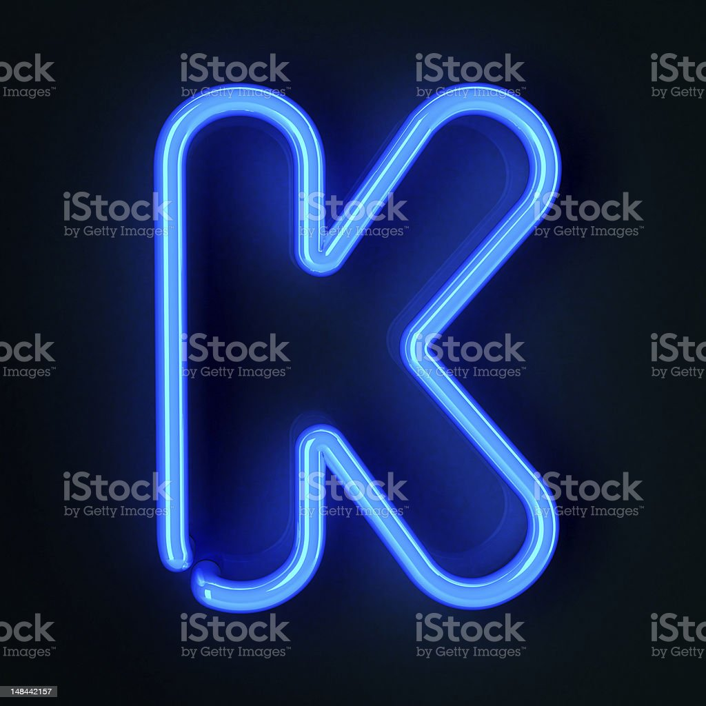 Neon Sign Letter K royalty-free stock photo