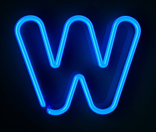 Neon Sign Letter W Highly detailed neon sign with the letter W - need more letters or the entire set? Click the image below: letter w stock pictures, royalty-free photos & images
