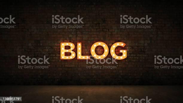 Neon sign on brick wall background blog 3d rendering picture id1166911791?b=1&k=6&m=1166911791&s=612x612&h=qtxfoupyjyinpxlkgsjo7 7jlfjrnsd6wzpipoji1 e=