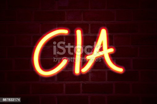 istock CIA  neon sign on brick wall background. Fluorescent Neon tube Sign on brickwork Business concept for Abbreviation 3D rendered 887833174
