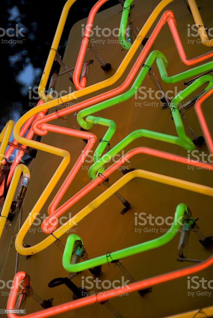 Neon Star stock photo