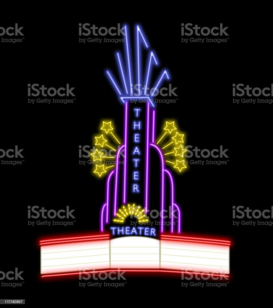 Neon theater stock photo