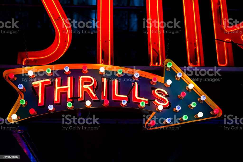 Neon Thrills stock photo