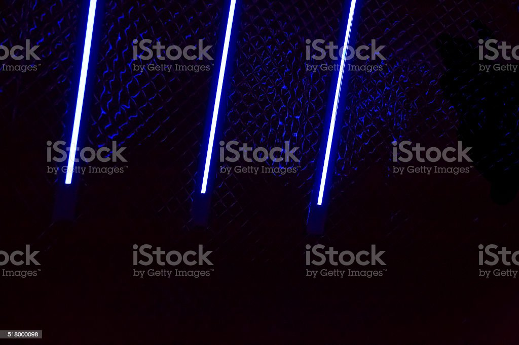 Neon tube light night stock photo