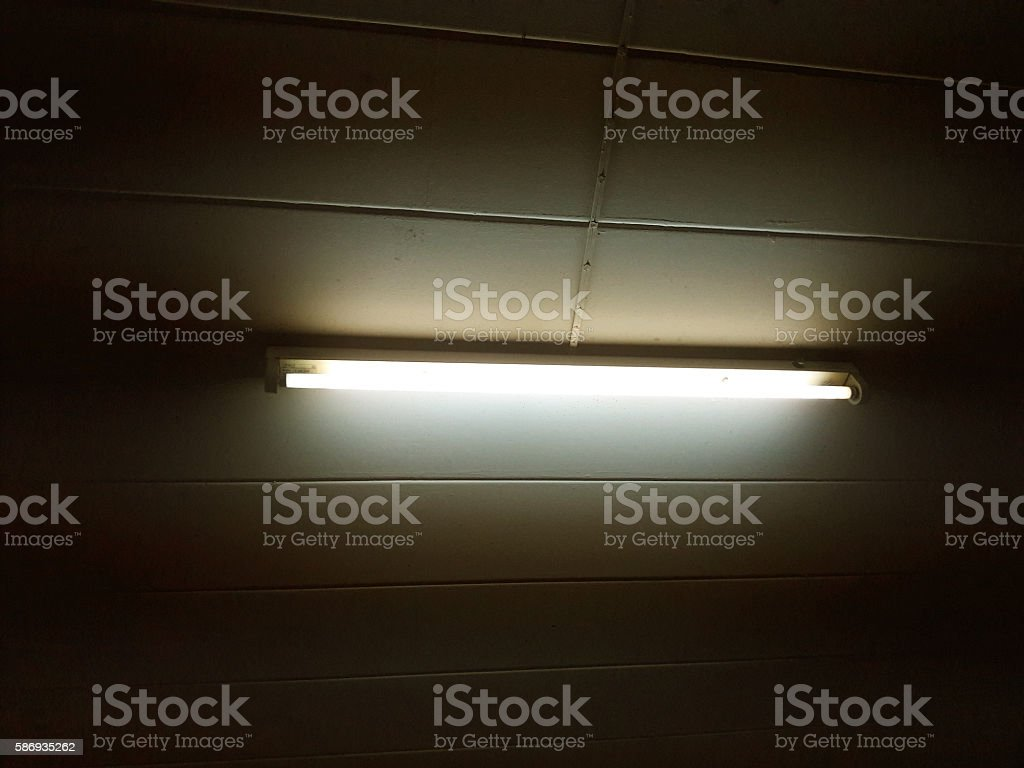 Neon tube light stock photo