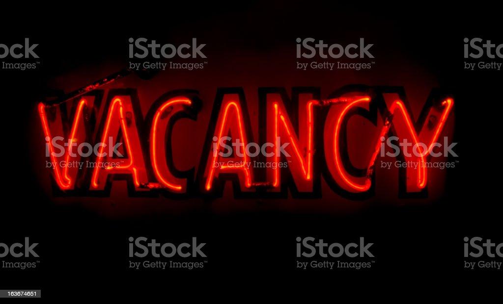 Neon - Vacancy stock photo