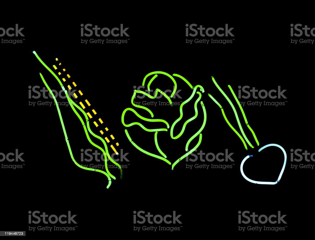 Neon Vegetables royalty-free stock photo