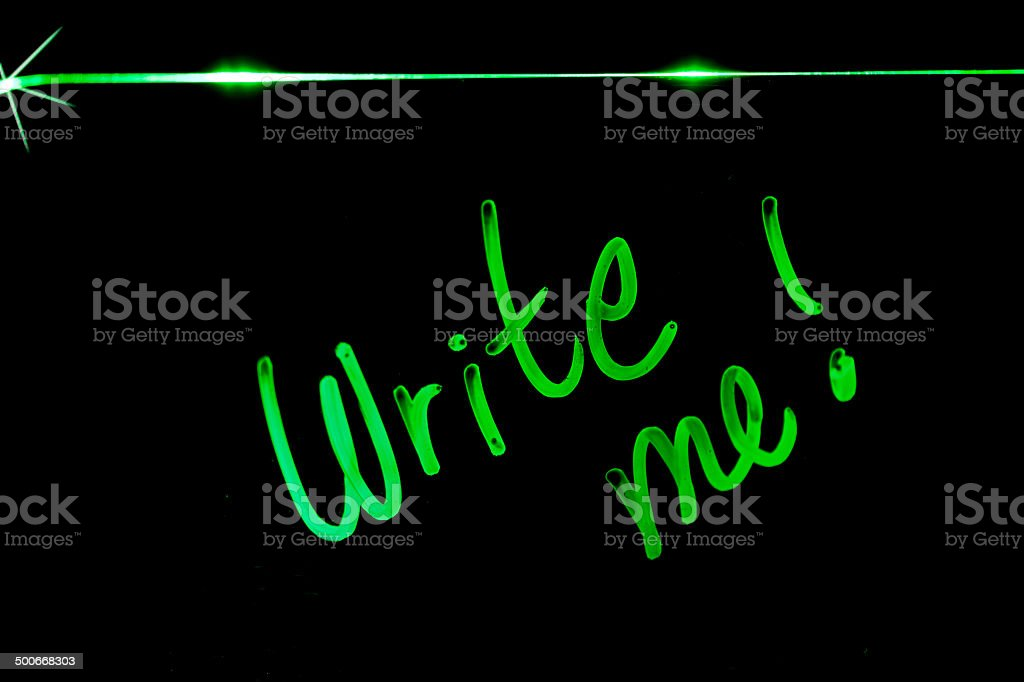 Neon Write Me stock photo