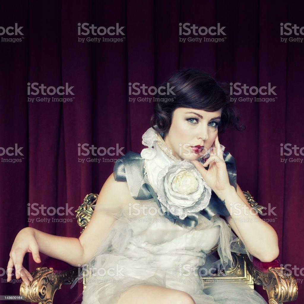 Neo-Victorian Portrait stock photo