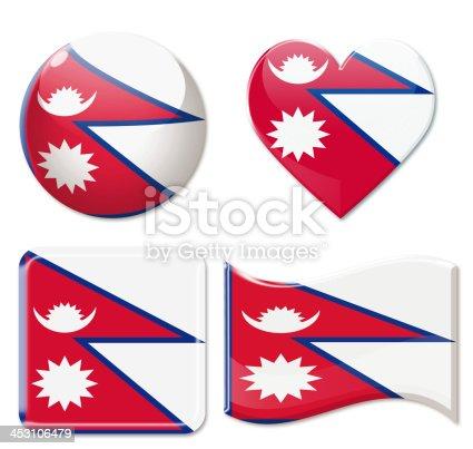 istock Nepal Flags & Icon Set 453106479