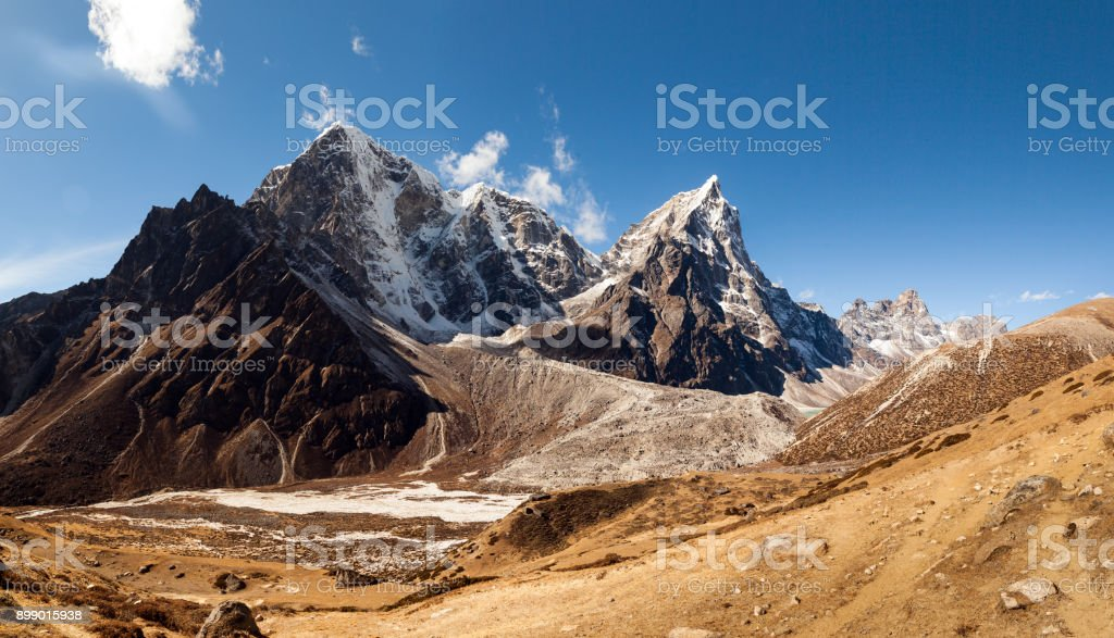 Nepal khumbu sagarmatha national park near dingboche stock photo
