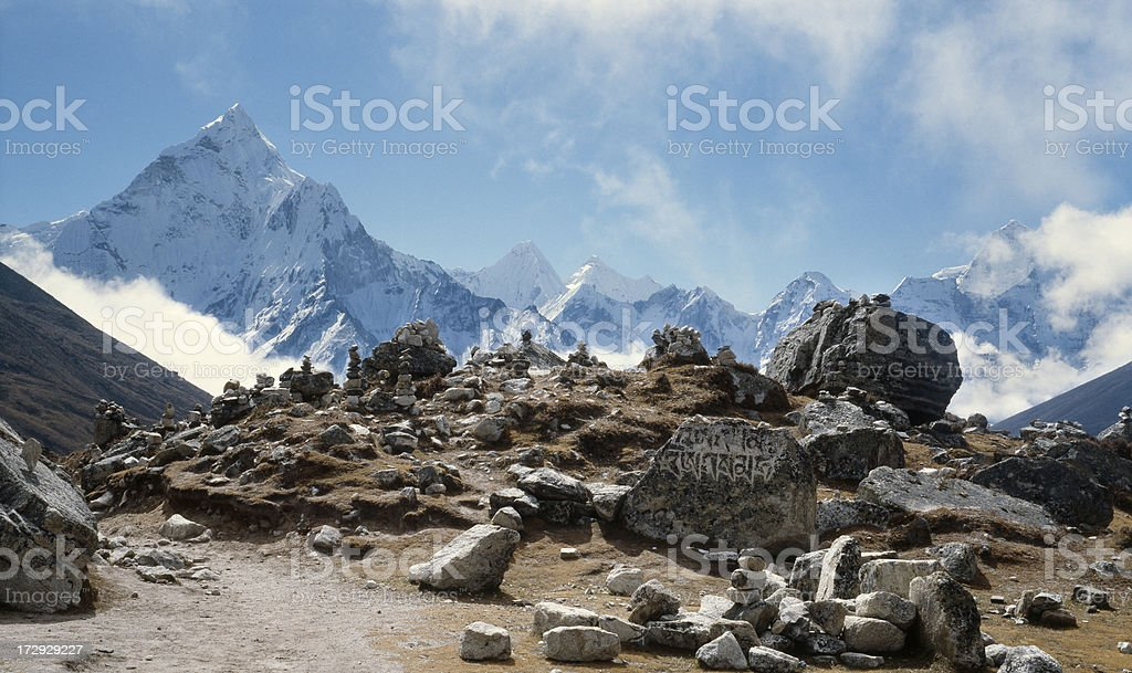 Nepal, Khumbu Valley. royalty-free stock photo