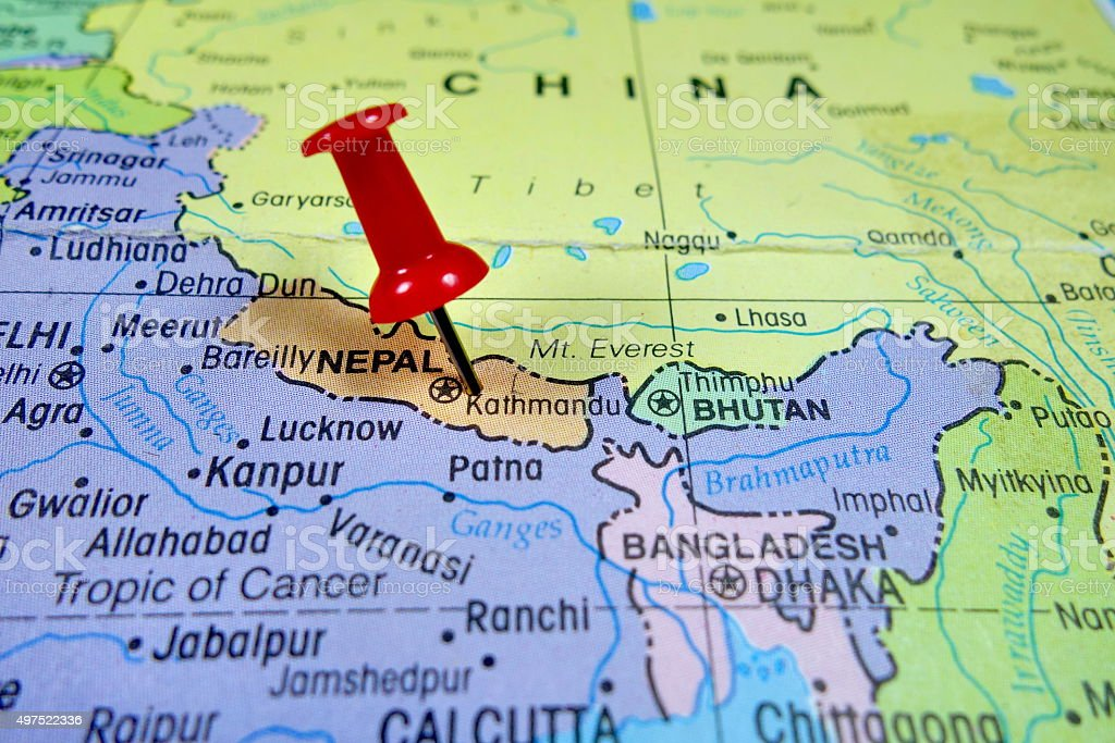 Cartina India Nepal.Nepal Map Stock Photo Download Image Now Istock