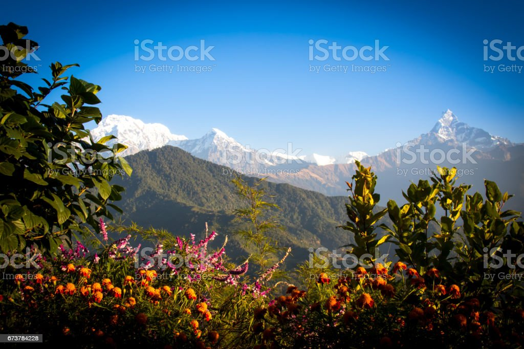 Nepal Mountain and Terrain royalty-free stock photo