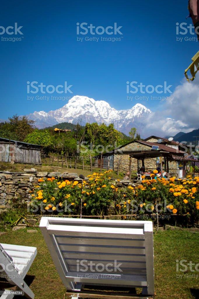 Nepal Mountain and Terrain royalty-free stock photo