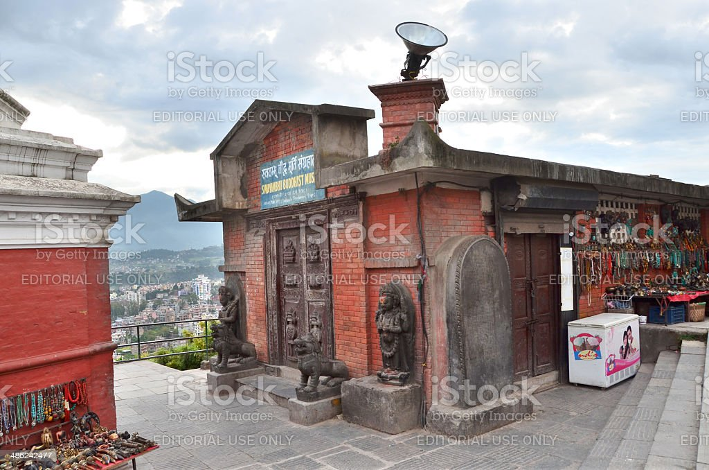 Nepal Scene: Nobody, Svayambhunath buddist complex royalty-free stock photo
