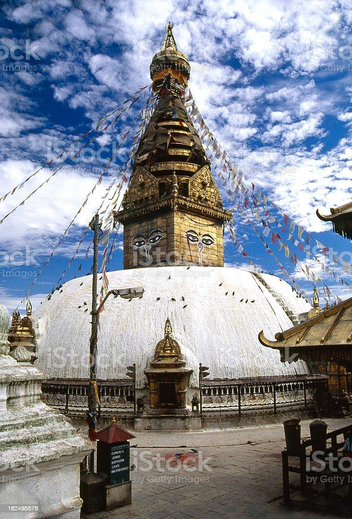 Nepal. Swayambhunath - the Buddhist temple in Kathmandu valley. royalty-free stock photo