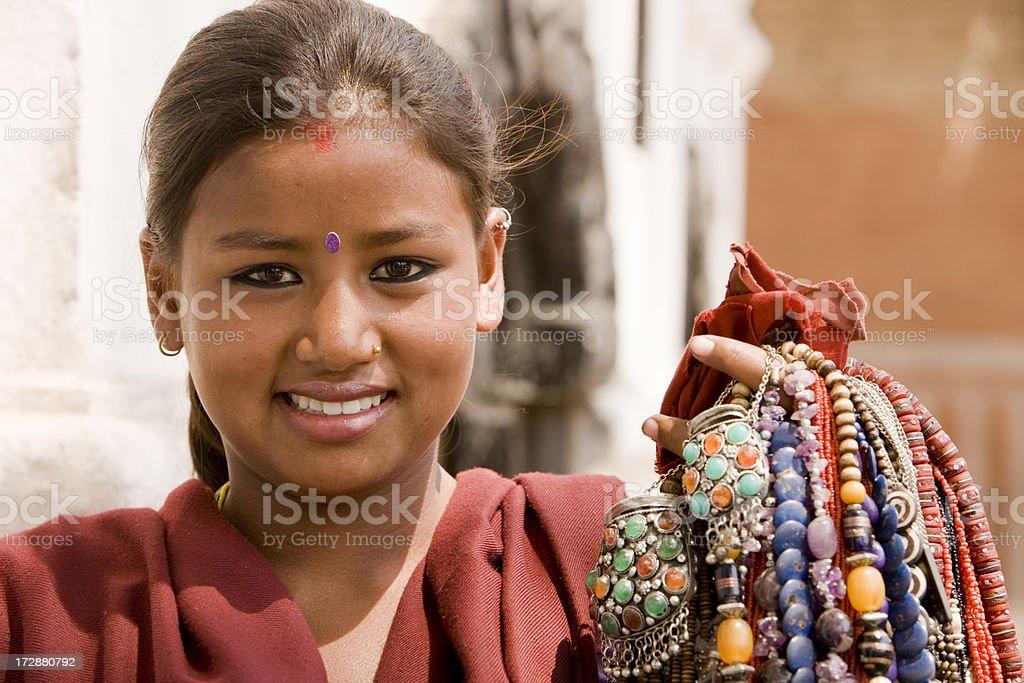 Nepalese beauty royalty-free stock photo