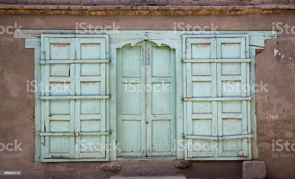 Nepalese Door/Window Shutters royalty-free stock photo