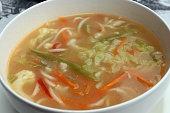Nepalese noodle soup (thukpa)