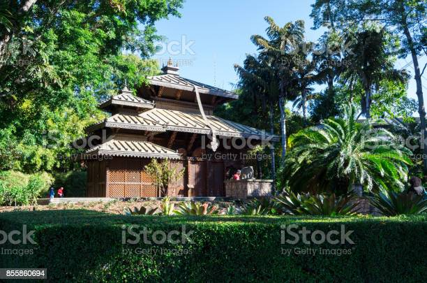 Nepalese Peace Pagoda in the South Bank parklands in Brisbane