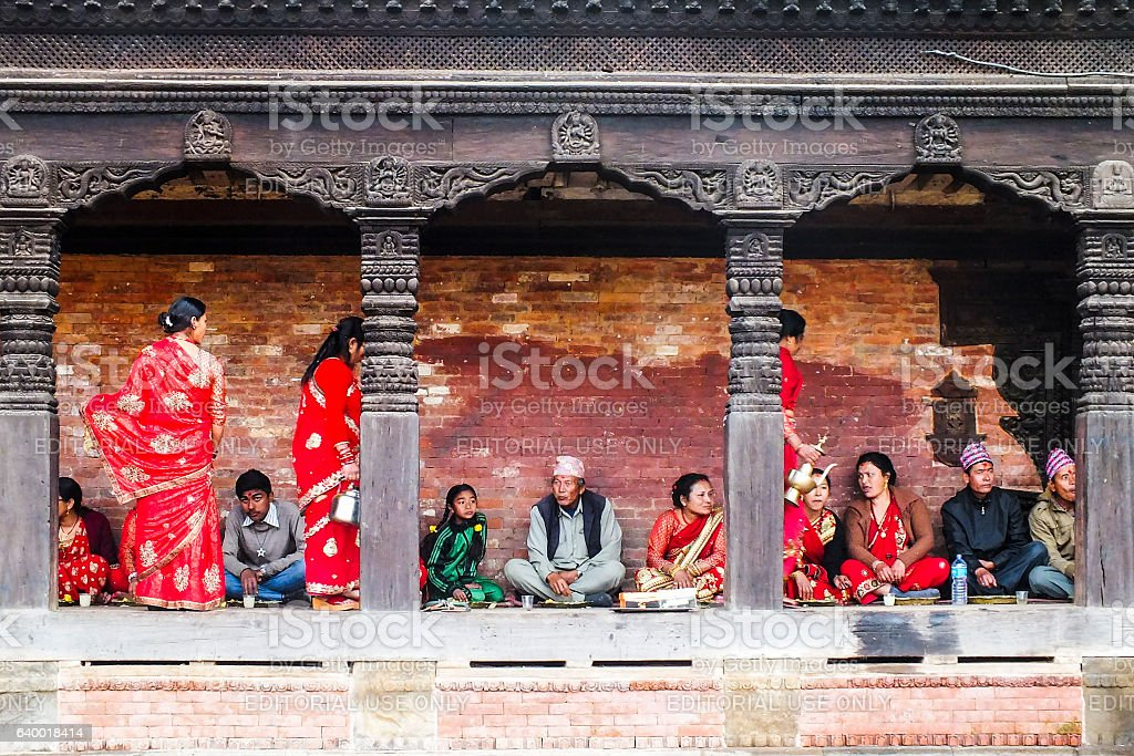 Nepalese people stock photo