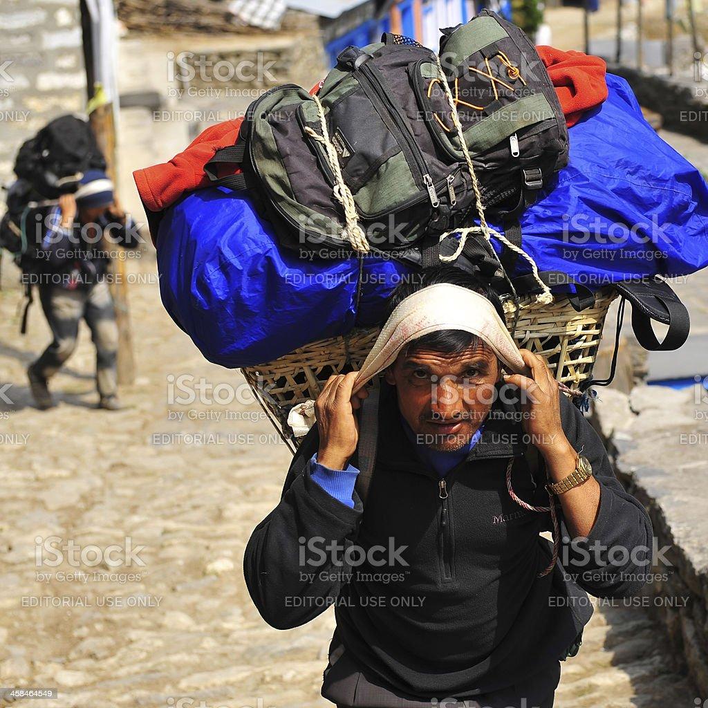 Nepalese porter royalty-free stock photo