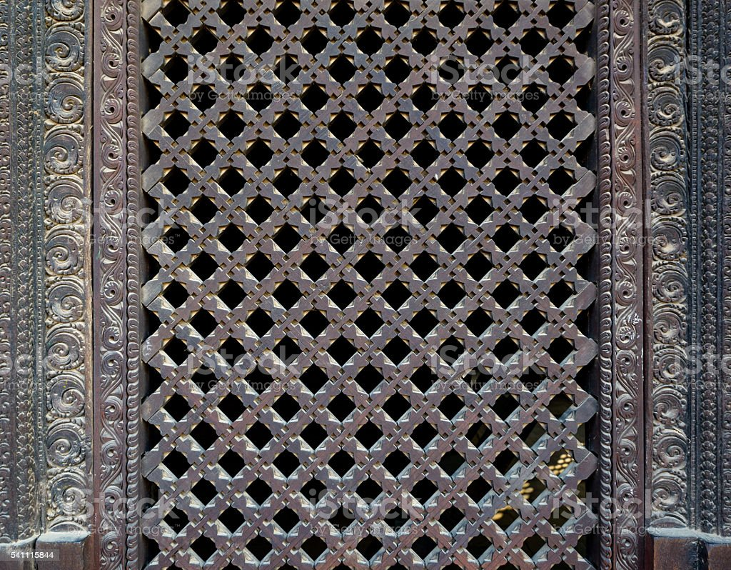 Nepalese window called Ankhi jhyal stock photo