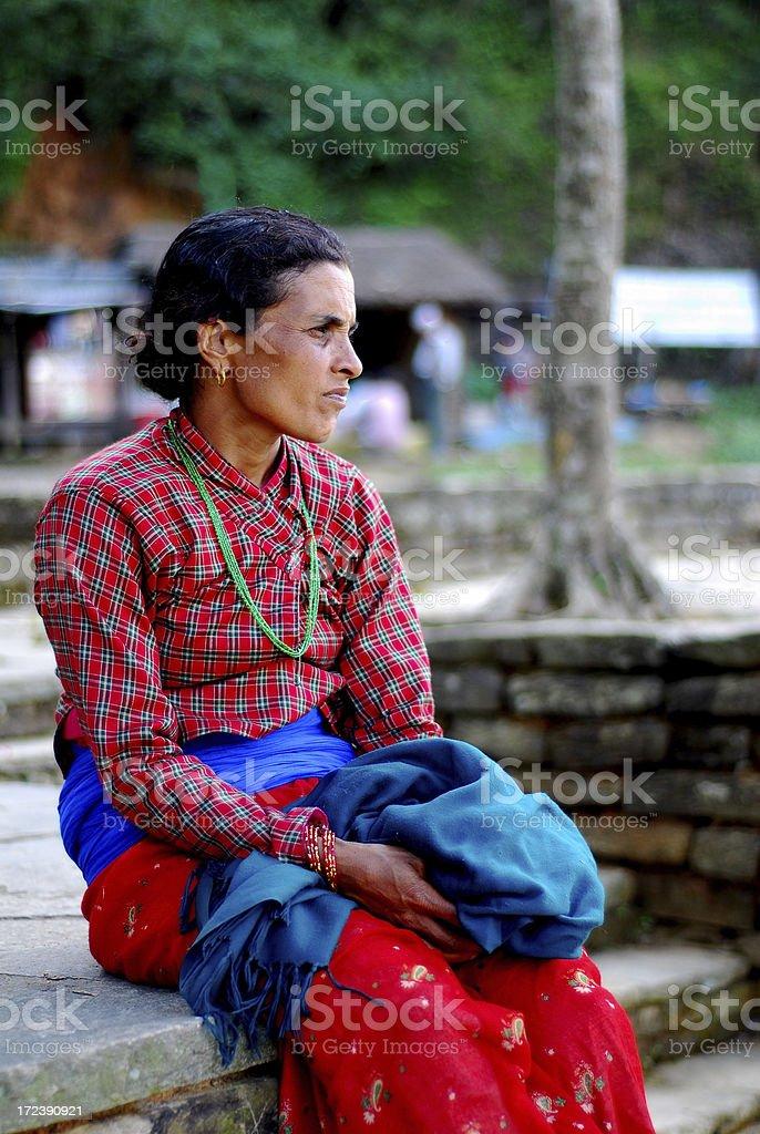 Nepalese woman royalty-free stock photo