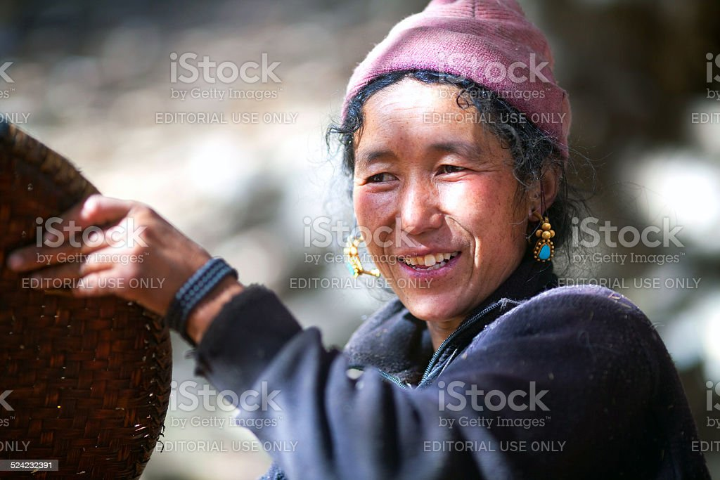 Nepalese woman stock photo