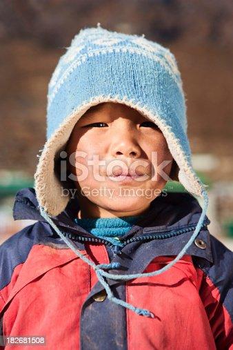 istock Nepali boy, Khumjung village 182681508