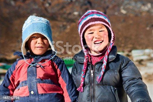 istock Nepali boys, Khumjung village 183240734