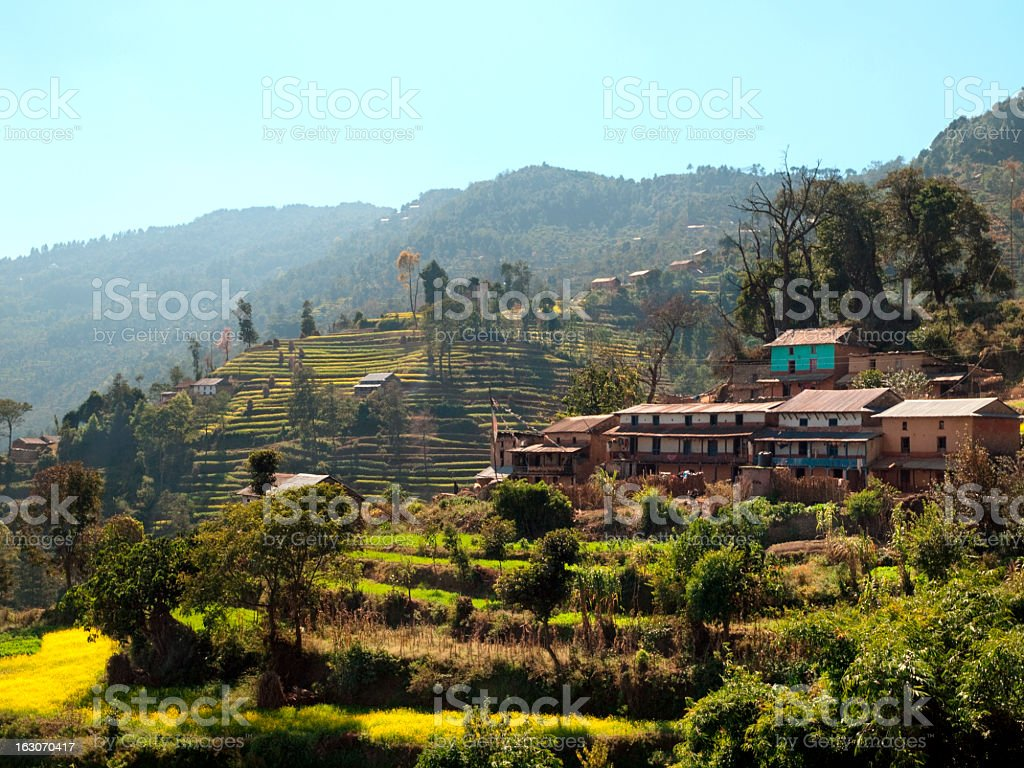 Nepali houses. royalty-free stock photo