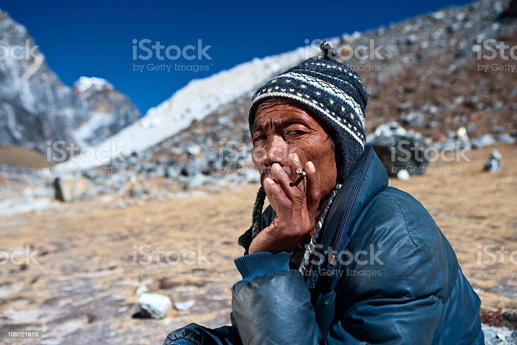 Nepali porter royalty-free stock photo