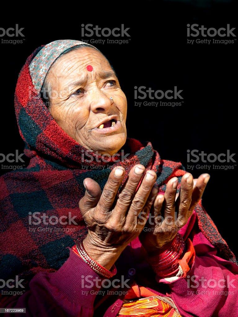 Nepali woman. royalty-free stock photo
