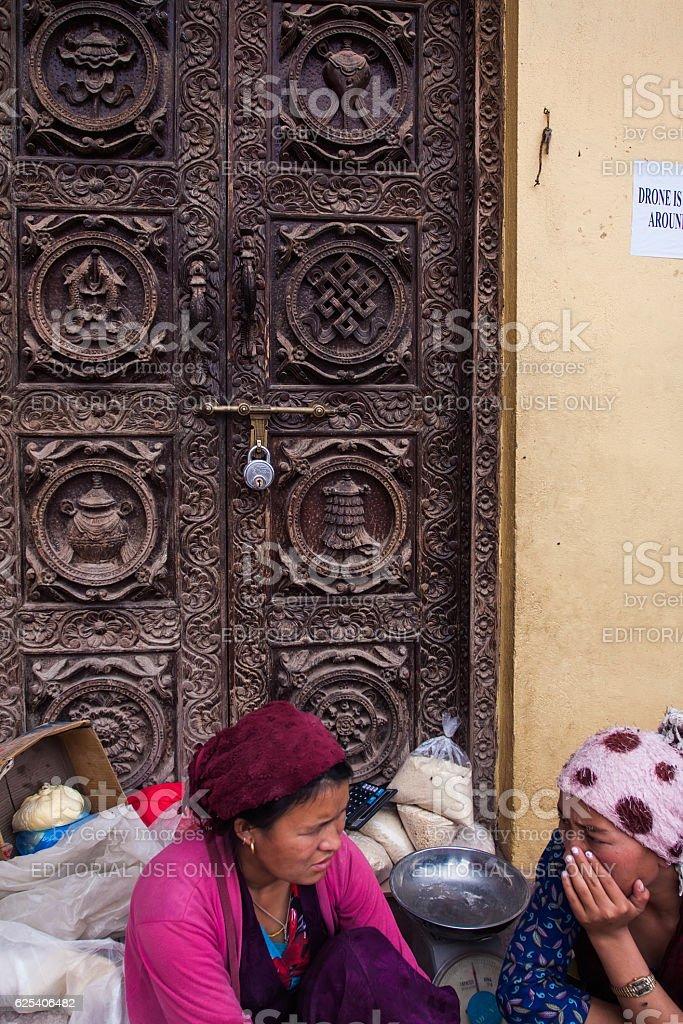 Nepalian family stock photo