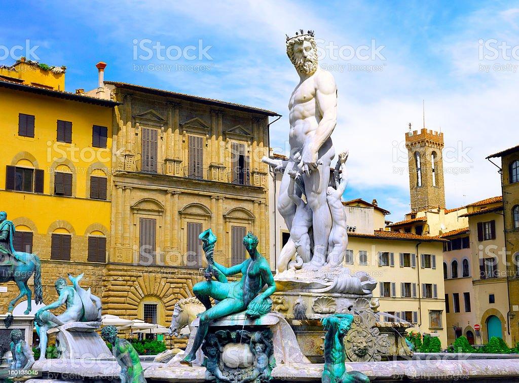 Neptun fontain, Florence, Italy royalty-free stock photo