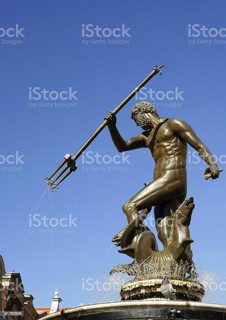 Neptun sculpture in Gdansk - Fountain royalty-free stock photo