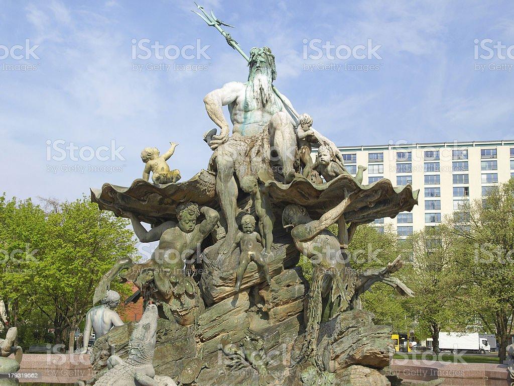 Neptunbrunnen royalty-free stock photo
