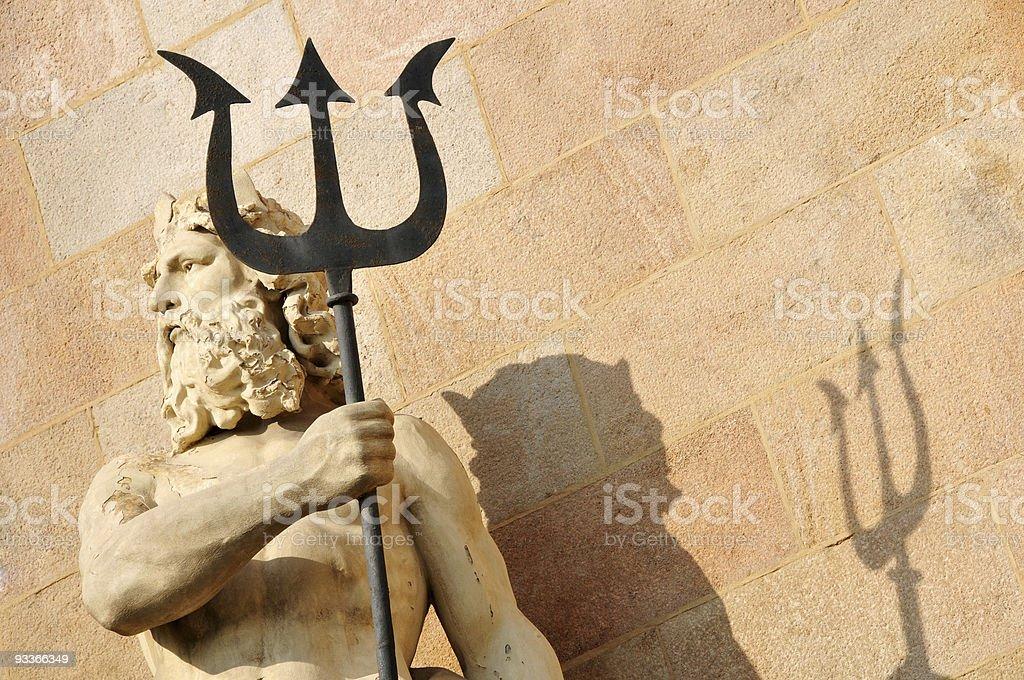 Neptune and trident stock photo